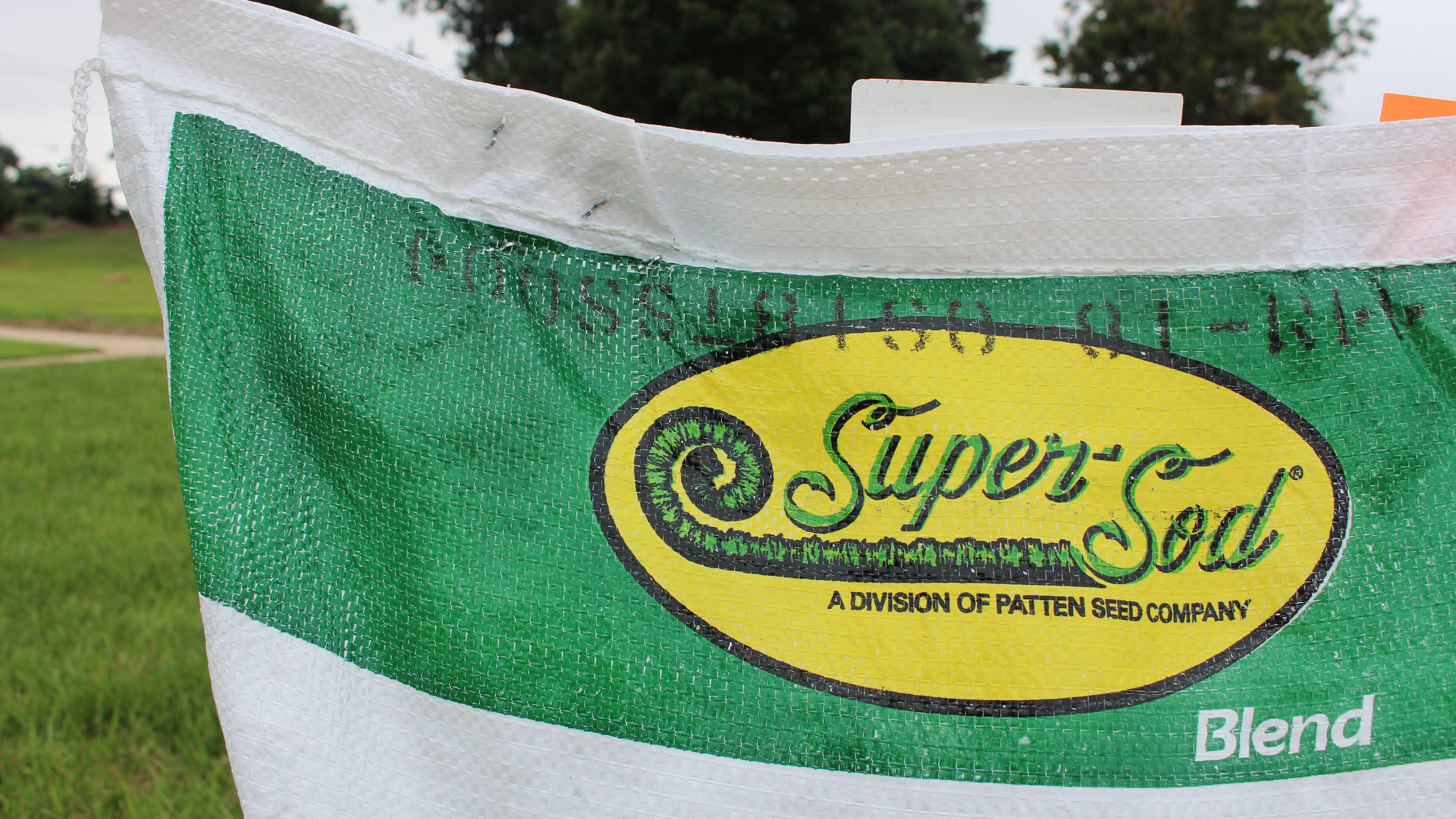 super-sod fescue seed bag