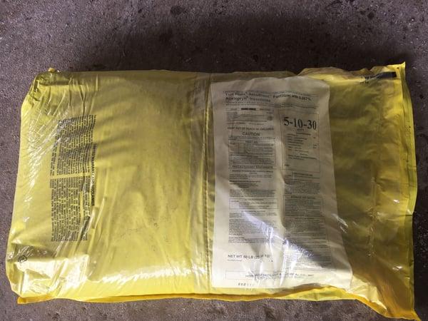 5-10-30 Acelepryn fertilizer bag