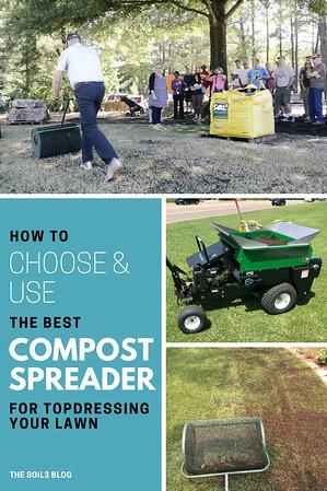how to choose a compost spreader with new spreader pic
