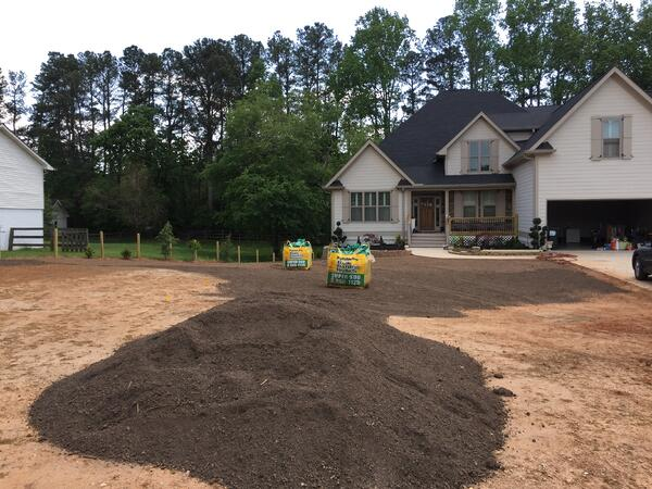 amending native soil with compost