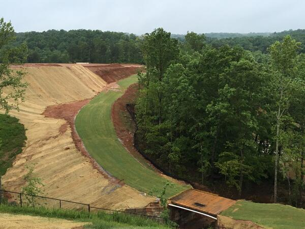 Tryon cross country course construction