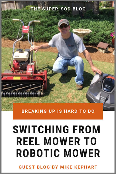 switching from reel mower to robotic mower