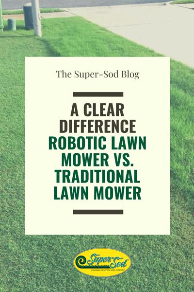 robotic lawn mower versus traditional lawn mower