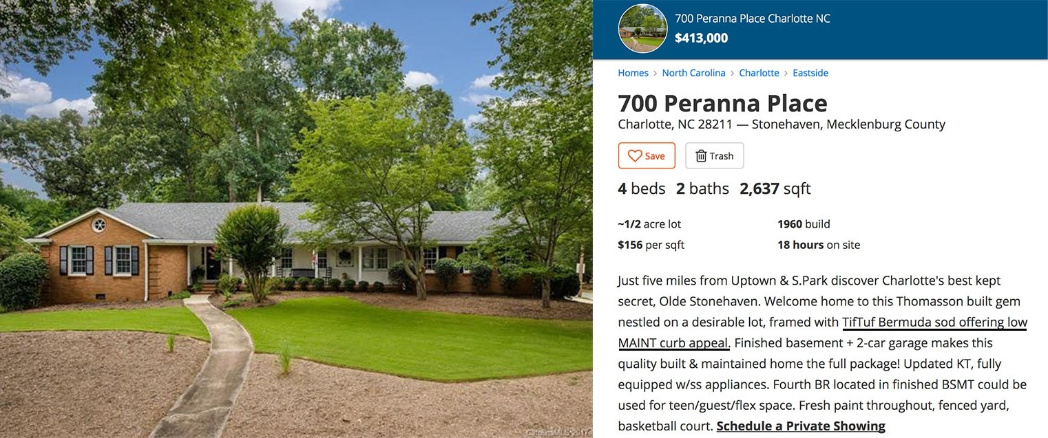 TifTuf selling point home Charlotte NC