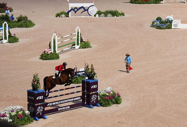 Tryon jump in arena